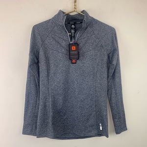 RBX Gray 1/4 zip pullover top NWT, S